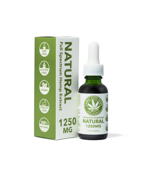 1250 mg of Liquid hemp extract