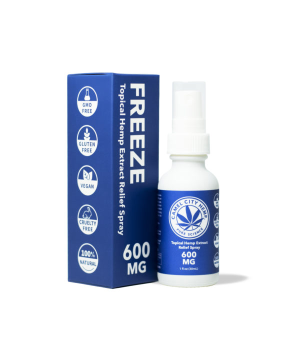 600 MG of Freeze Hemp Spray